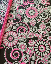 Flower Designs Adult Coloring Book Volume 1 Black Background Edition
