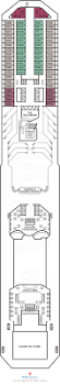 Celebrity Millennium Deck Plans by Carnival Freedom Cabin 1063 Category 8f Balcony Stateroom 1063
