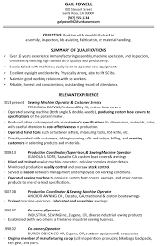 Resume Sample Assembly Inspection Fabrication Assembler