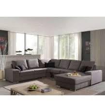 canapé polyester canapé d angle 100 polyester coloris brun clair canapés