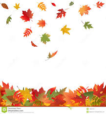 Falling Fall Leaves Vector