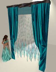 Second Life Marketplace Gypsy Jewel Turquoise Window Treatment Intended For Teal Treatments Design 7