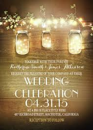 Rustic Mason Jars And Lights Wedding Invitation Template Download