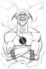 Coloring Pages Free Of Kid Flash Cards