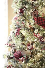 Buffalo Check Christmas Tree Plaid 4 Copy Ornaments