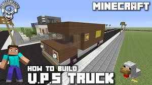 100 Who Makes Ups Trucks Minecraft How To Make A UPS Truck Xbox One YouTube