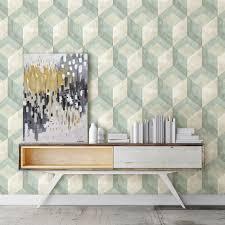 brewster green rustic wood tile geometric wallpaper 2701 22310