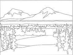 Mountain Landscape Coloring Pages