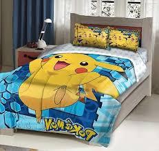 Pokemon Pikachu Bedding Set forter Pillow Shams Twin full
