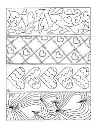 Valentine Bookmarks To Color
