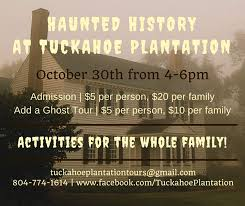 Haunted Halloween Hayride And Happenings by Haunted History At Tuckahoe Tuckahoe Plantation Happenings