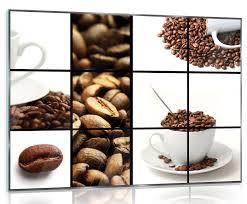 glasbild kaffee