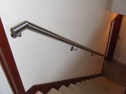 Architecture: Stainless Steel Handrails For Stairs With Grey ... Stainless Steel Handrail See Tips And 60 Models With Photos Glass Railing Fabricators In Shimla Manali Interior Railings Gallery Compass Iron Works The Sleek Design Of Stainless Cable Rail Systems Pair Well Modern Steel Stair Railing Installing Elements The Handrails Price Naindien Handrails Unique Designs Staircase Handrail Work Kochi Kerala Ernakulam Thrissur Systems Square Middle Post W
