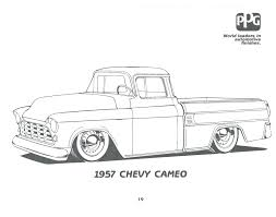 Free Pickup Truck Coloring Pages Pick Up Ford Trucks Adult Craft Chevy Full Size