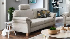 sofa borkum 3 sitzer in stoff natur mit federkern 186 cm