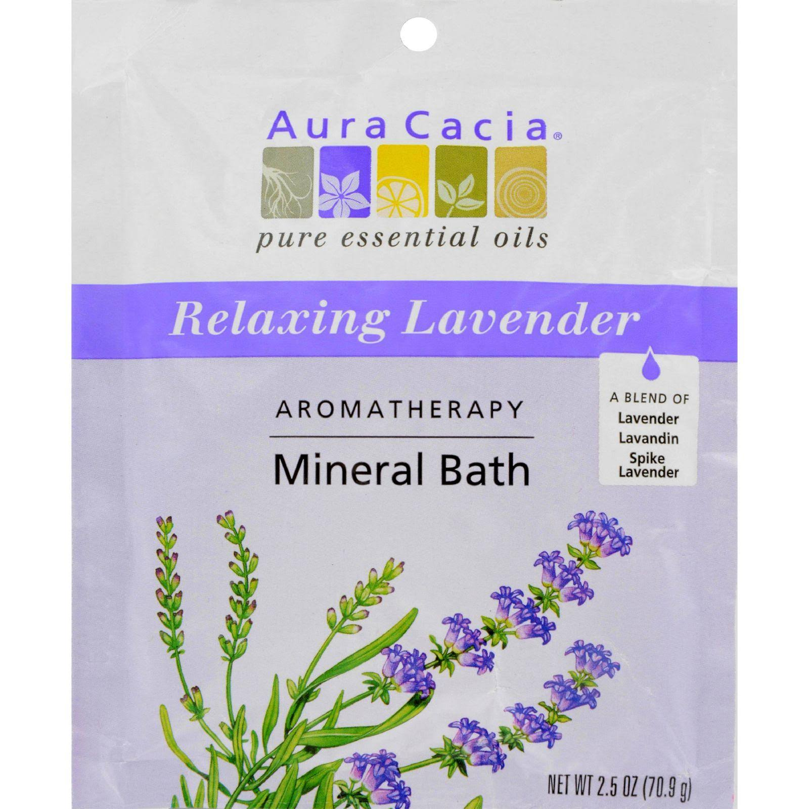 Aura Cacia Aromatherapy Mineral Bath Salt - Relaxing Lavender, 2.5oz