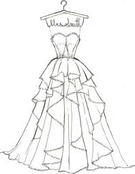 Printable Wedding Dress Coloring Pages