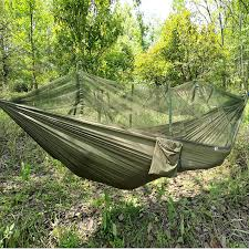 Outdoor Camping Parachute Hammock Mosquito Net Flyknit Double