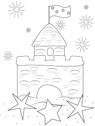 Sandcastle Coloring Page Download Sand Castle Stock Illustration Of Closeup Free Colo