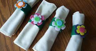 Make Easy Crafts Kids Craft Spring Flowery Napkin Rings