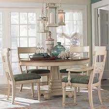 paula deen home paula s round pedestal dining table in linen