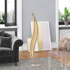 140cm led spezial stehle bramma canora grey gestellfarbe silber