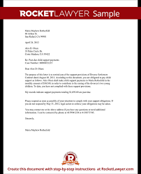 Child Support Letter Payment