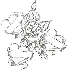 Inspiring Coloring Pages Of A Rose Crayola Photo Roses Flowers In Hearts Small Page Kids Drawing