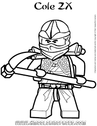Ninjago Cole Coloring Pages By Christopher