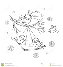 Royalty Free Vector Download Coloring Page Outline Of Cartoon Birds