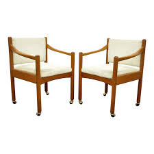 Pair Of Vintage Mid Century Modern Dixie Teak Danish Style Dining Arm Chairs Mid Century Danish Modern Teak Upholstered Ding Chairs Set Of 6 By Niels Otto Moller For Jl Mller 1950s How To Re Upholster The Backs Midcentury 1960s 8 Kfoed 4 Vintage Midcentury Style Curved Back Walnut Oak Style Ding Chairs 1970s 88233 Fuchsia Chair Dania Fniture Weber Black Shell Seat Details About 2 Wegner Elbow Midcent Finish Solid Wood Frme Picked Amazoncom Glj Fashion Nordic Designer G Plan Solid Teak New Upholstery Mid Century Modern K Larsen Influenced
