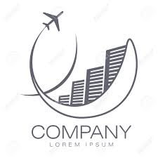 Vector Abstract Logo Hotels And Airliner Tourism Travel Company Identity Icon
