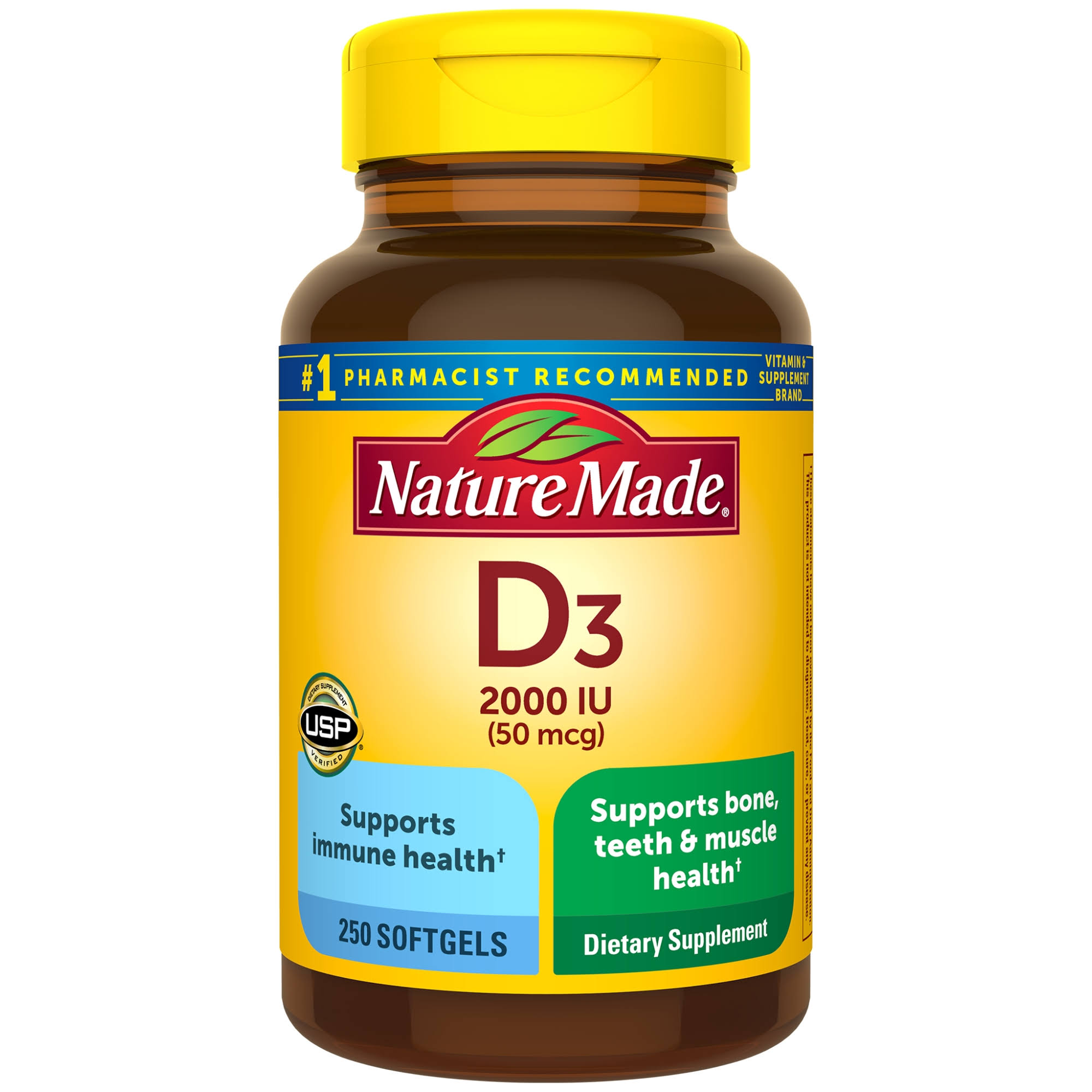 Nature Made Vitamin D3 2000 IU Softgels - x250
