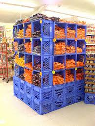 Milk Crates As Shelves At The Jubilee