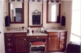 Small Bathroom Vanities With Makeup Area by Incredible Bathroom Vanity With Seating Area And Makeup Vanity