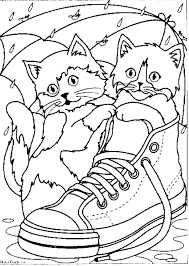 Kittens Shoe Coloring Pages Printable