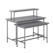 OPTO Classic 4 Sided Metal Bullnose Nesting Table