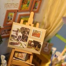 DIY Doll House Miniature Wooden Dollhouse Miniaturas Furniture Toy
