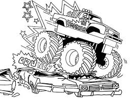 Impressive Ideas Coloring Pages Cars And Trucks Monster Truck For Boys