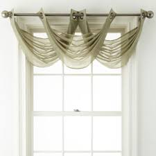 Crushed Voile Curtains Grommet by Royal Velvet Crushed Voile Grommet Top Waterfall Valance Jcpenney