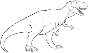 T Rex Coloring Pages To Print To Embroider Dinosaur Coloring