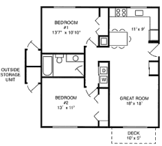 Apartment 2 Bedroom 1 Bath Apartment Floor Plans Bath' Plans' 1
