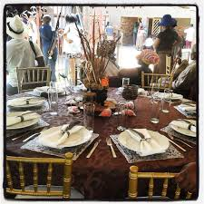 Traditional African wedding centerpieces and decor