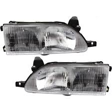 headlight set for 93 97 toyota corolla driver and passenger side w