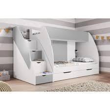 etagenbett margo für 2 personen weiß grau