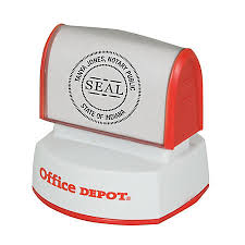 fice Depot Brand Pre Inked Notary Round Stamp 1 916 Diameter by
