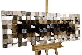 wood wall lustrous pixel 143x55x8 5 cm