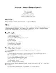 Sample Resume For Server Resumes Examples Download Restaurant