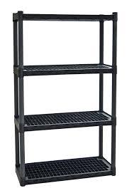 Sterilite 4 Shelf Cabinet by Plano Molding 924 Heavy Duty Shelving With Vents 4 Shelf Garage