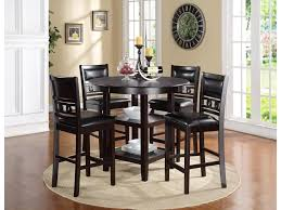 New Classic Gia Counter Height Dining Table And Chair Set With 4 Chairs Circle Motif